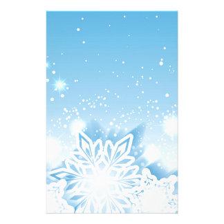 3-D sneeuwvlokken Briefpapier