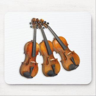 3 VIOLONS MUSICAUX TAPIS DE SOURIS