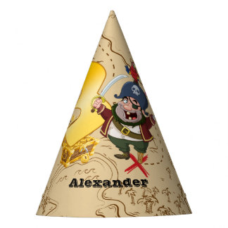 3ème Carte de trésor de pirate d'anniversaire Chapeaux De Fètes