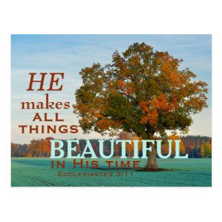 3h11 d'Ecclesiastes toute la belle carte postale