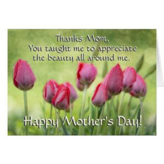 3h11 d'Ecclesiastes, tulipes du jour de mère de Carte