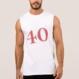 40 ans d'anniversaire t-shirt sans manches