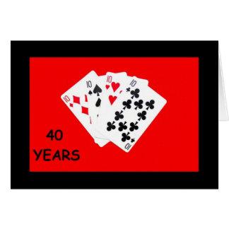 40 ans est une carte d'anniversaire d'affaire