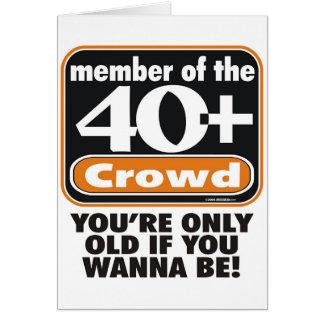 40+ Carte de voeux de foule