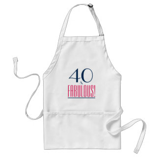 40 et fabuleux ! Tablier de cadeau d'anniversaire