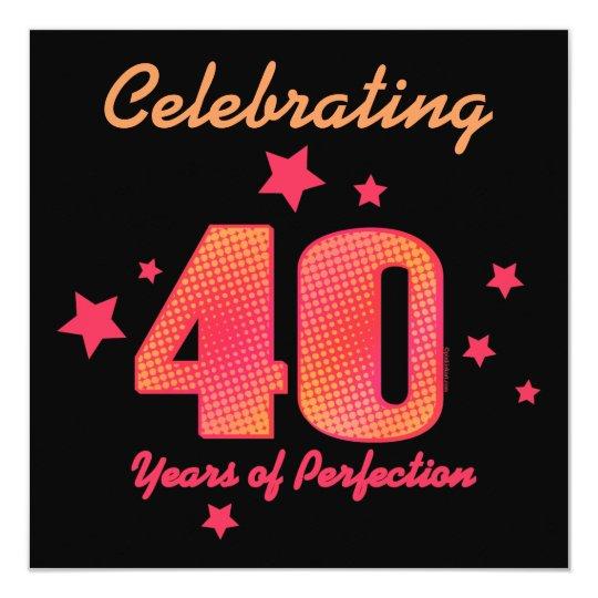 Fabulous 40 jaar van de Uitnodiging van de Verjaardag van   Zazzle.be @FI19
