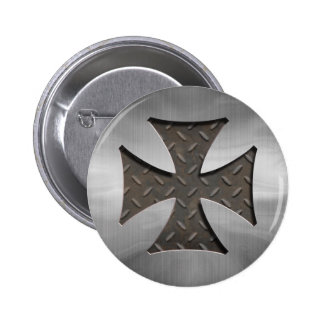 416 maltais en acier badge rond 5 cm