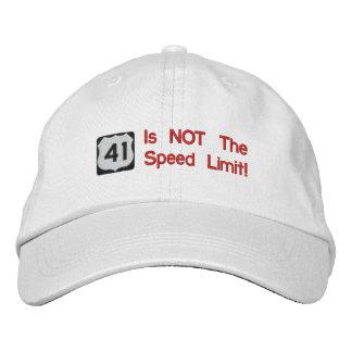 41 n'est pas le casquette de limitation de vitesse