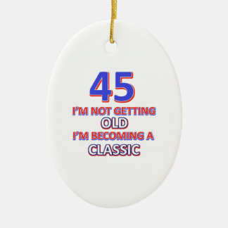 45 conceptions d'anniversaire ornement ovale en céramique