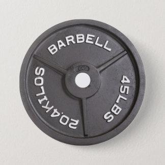 45lb plat - haltère badge rond 7,6 cm