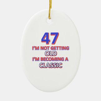 47 conceptions d'anniversaire ornement ovale en céramique