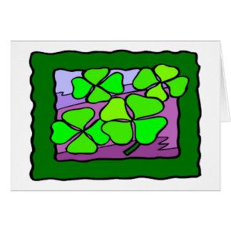 4 chanceux - Carte de voeux