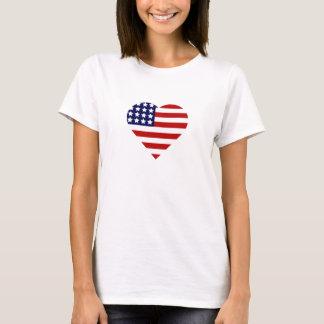 4 juillet coeur t-shirt