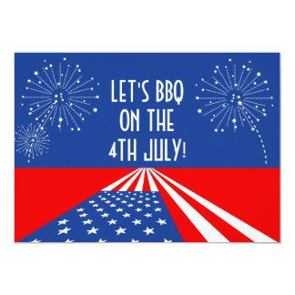 4 juillet invitation de l'invitation/Etats-Unis -