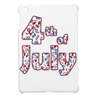 4 juillet Jour de la Déclaration d'Indépendance Coque Pour iPad Mini