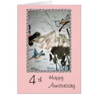 4ème Carte d'anniversaire