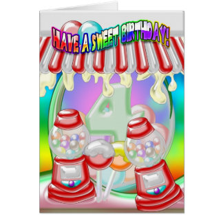 4ème Carte d'anniversaire - anniversaire doux -
