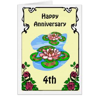 4ème carte d'anniversaire - nénuphars