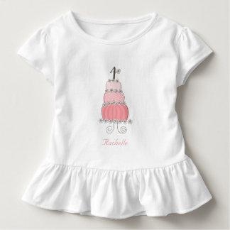 4ème fête d'anniversaire de la fille rose t-shirt pour les tous petits