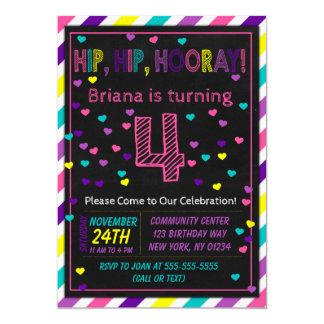 4ème Invitation d'anniversaire pour une fête