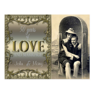50 ans d'amour carte postale