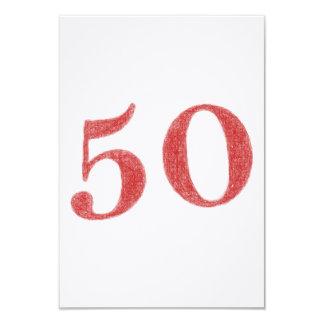 50 ans d'anniversaire carton d'invitation 8,89 cm x 12,70 cm