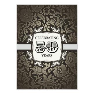 50 ans de mariage d'anniversaire d'invitation carton d'invitation  12,7 cm x 17,78 cm