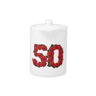 50 cinquantième roses d'anniversaire de mariage