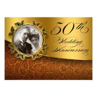 50 de fotouitnodigingen van de huwelijksverjaardag aankondigingen