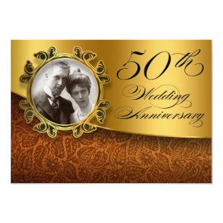 50 de fotouitnodigingen van de huwelijksverjaardag 12,7x17,8 uitnodiging kaart