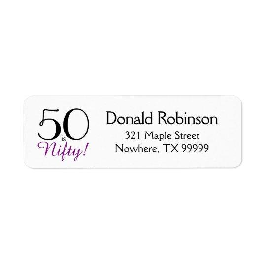 50 est astucieux ! cinquantième Étiquette de