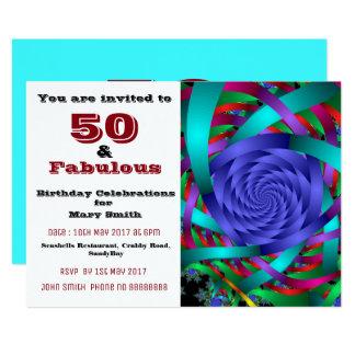 50 et ciquantième invitation fabuleuse