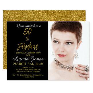 50 et invitation fabuleuse d'anniversaire de
