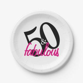 50 et plaques à papier fabuleuses de fête assiettes en papier