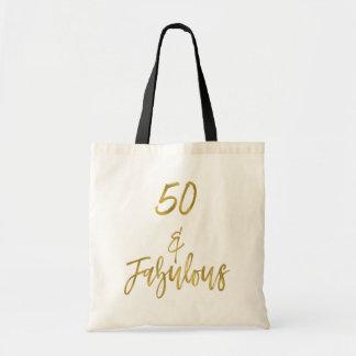 50 et sac fourre-tout fabuleux à anniversaire de