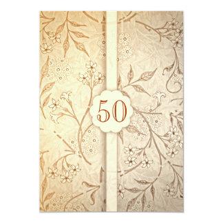 50 invitations d'anniversaire de mariage d'or