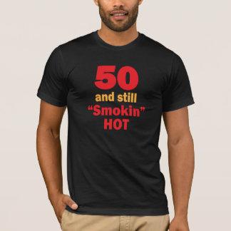 50 jaar Oude en nog Hete   vijftigste van Smokin T Shirt