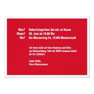 50 Na et Carton D'invitation 12,7 Cm X 17,78 Cm