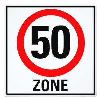 50 zone carton d'invitation  13,33 cm
