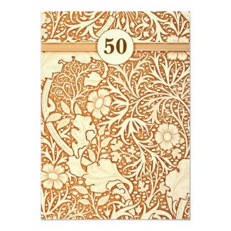 50ste huwelijksverjaardag i 12,7x17,8 uitnodiging kaart