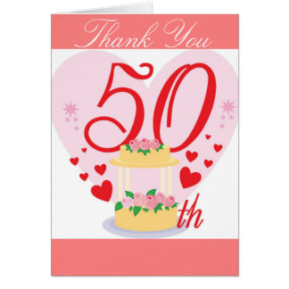 50ste huwelijksverjaardag wenskaart