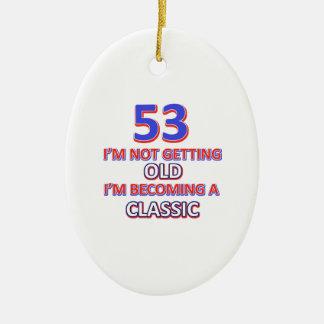 53 conceptions d'anniversaire ornement ovale en céramique