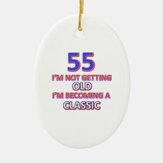 55 conceptions d'anniversaire ornement ovale en céramique
