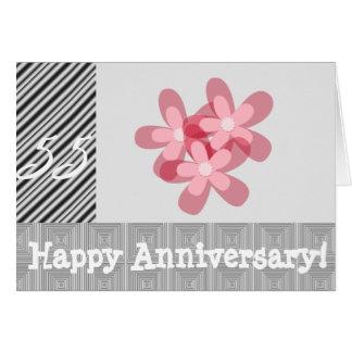 55ste huwelijksverjaardag wenskaart