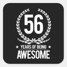 Verjaardag 56.Verjaardag 56 Stickers Zazzle Be