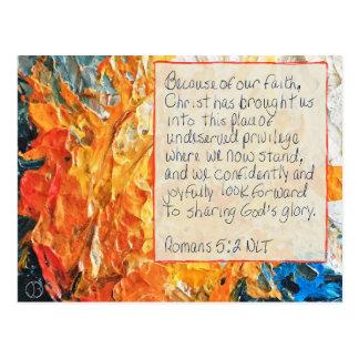 5:2 de Romains de carte d'écriture sainte