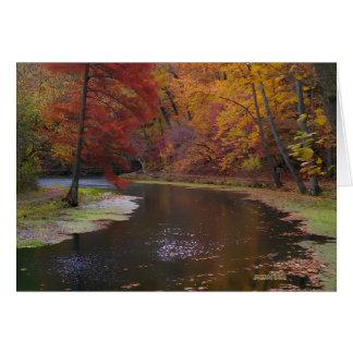 """5,6"""""""" carte de remerciements de thème de l'automne"""
