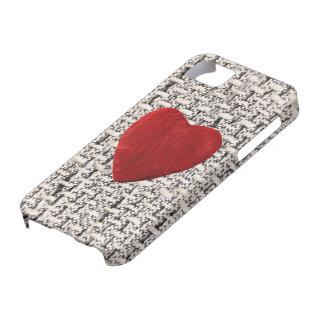 5 arrière-plan de matière iPhone coeur Coques iPhone 5 Case-Mate