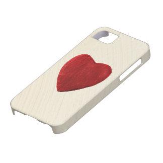 5 arrière-plan ébarber iPhone coeur Étuis iPhone 5
