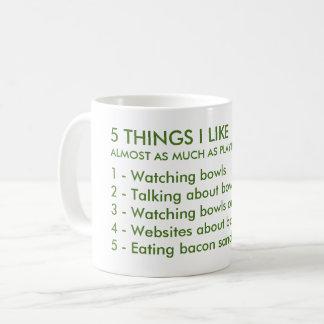 5 choses j'aime la tasse de cuvettes